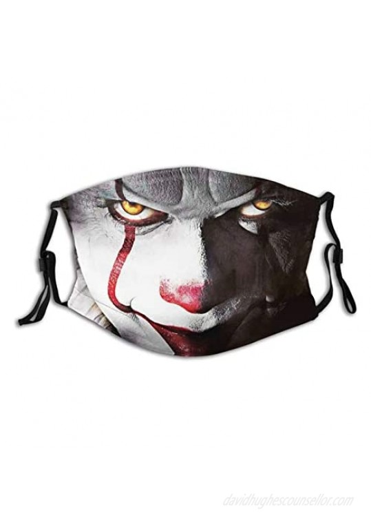 A Smile In The Dark Pennywise-Face Mask Dust Filter-Comfortable-Breathable-Washable Unisex Black