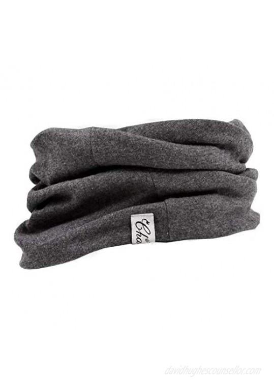 CHARM Mens Organic Cotton Neck Gaiter - Headband Beanie Chemo Hat Hairband Ear Warmer