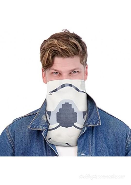 Concept One Star Wars Stormtrooper Multi-Purpose Neck Gaiter Scarf Bandana White One Size