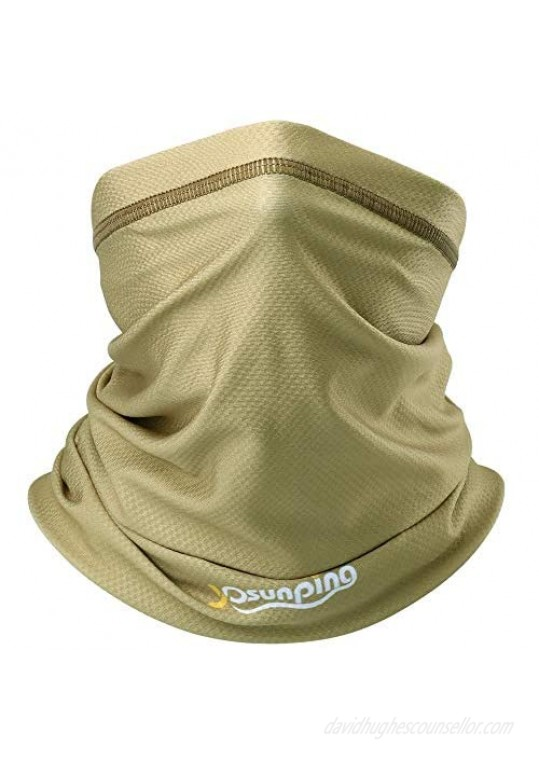 YOSUNPING UPF 50+ Summer Breathable Neck Gaiter Half Face Mask - Sun UV Dust Protection Windproof for Cycling Hiking Running