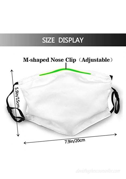 Face Mask Seniors'21 Class of 2021 Washable Masks for Adult (2PCS 10 Filters)