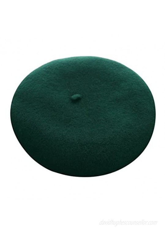 VGLOOK French Style Classic Solid Color Wool Berets Beanies Cap Hats