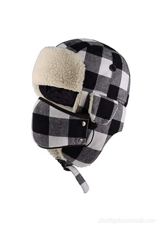 CHOK.LIDS Lumberjack Plaid Winter Trapper Unisex Premium Extra Strength Ear Flap Chin Strap Windproof Outdoor PT201