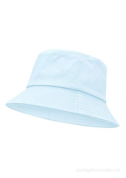 Bucket Hat Reversible Fishing Hats for Women Two Sides Sun Athletic Outdoor Cap Beach Hat