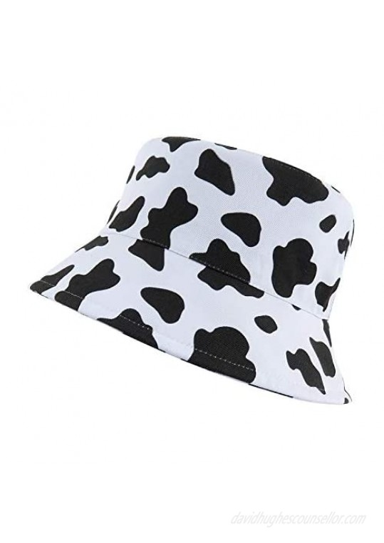 Reversible Cotton Bucket Hats Packable Summer Fall Outdoor Fisherman Boonie Sun Hat Cap for Hiking Beach Sports