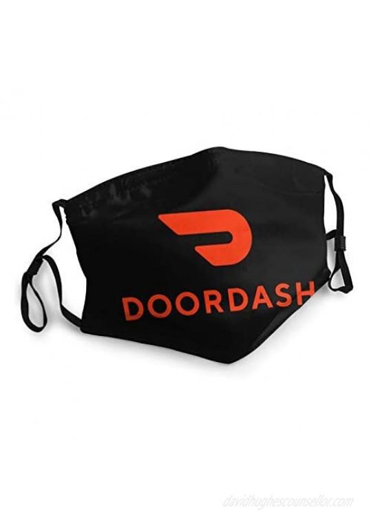 Adult Doordash Mouth Cover Washable Dustproof Adjustable Face Mask 1 Pcs Black