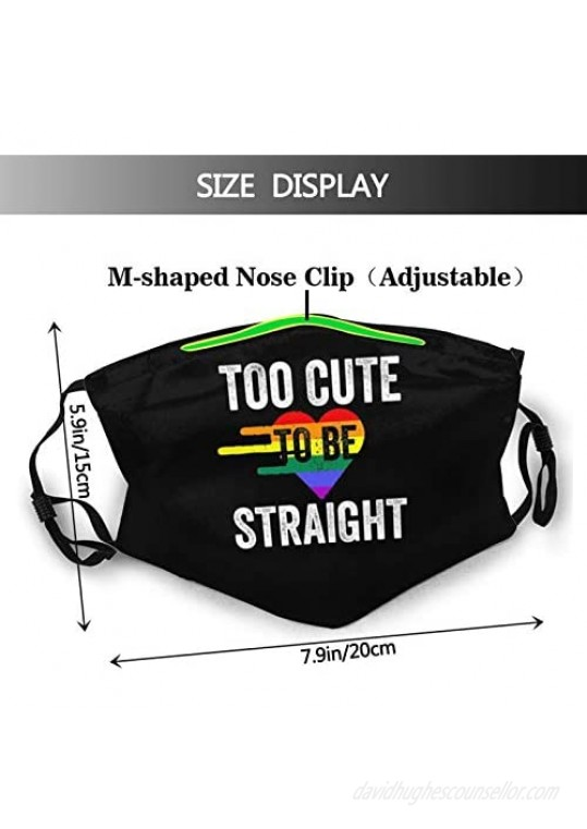 Lgbt Gay Love Is Love Face Mask With 2 Pcs Filters Washable Reusable Scarf Balaclava For Men Women &Teenage Black