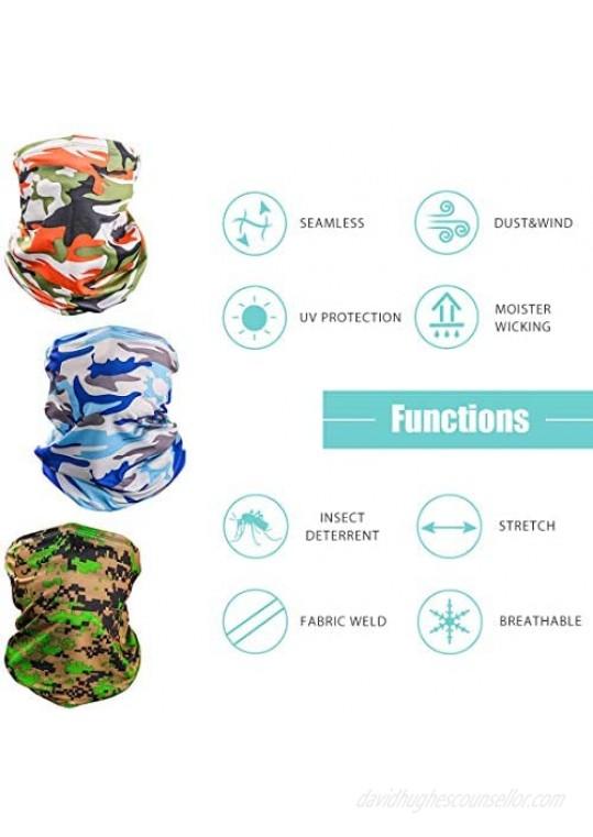 Neck Gaiter Face Mask Washable UV Protection Face Cover Scarf Bandana Balaclava