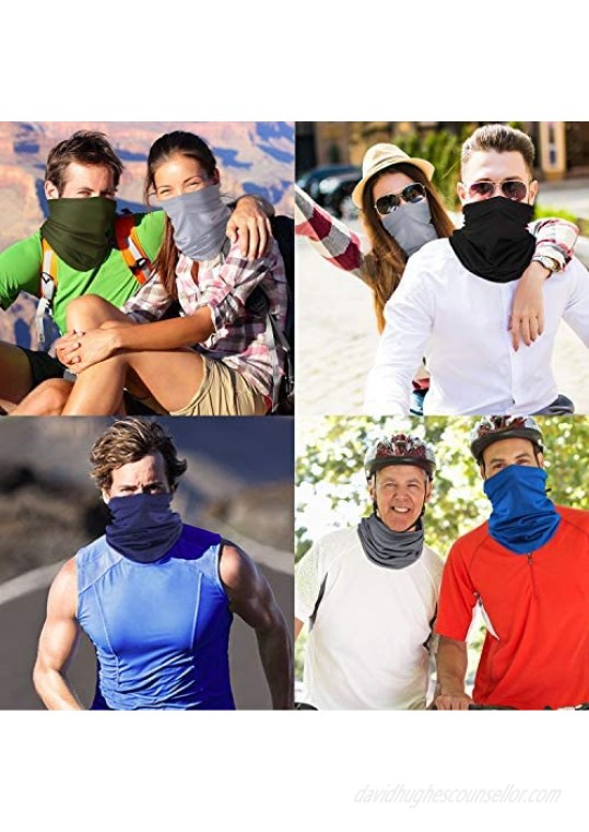 SATINIOR 12 Pieces Summer Neck Gaiter Sun Protection Neck Gaiter Scarf UV Protection Balaclava Face Clothing for Outdoor Use