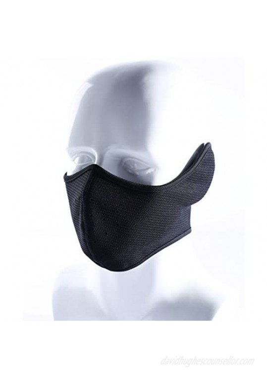 Your Choice Unisex-Adult Ear-Flap Half Face Mask for Cycling Black