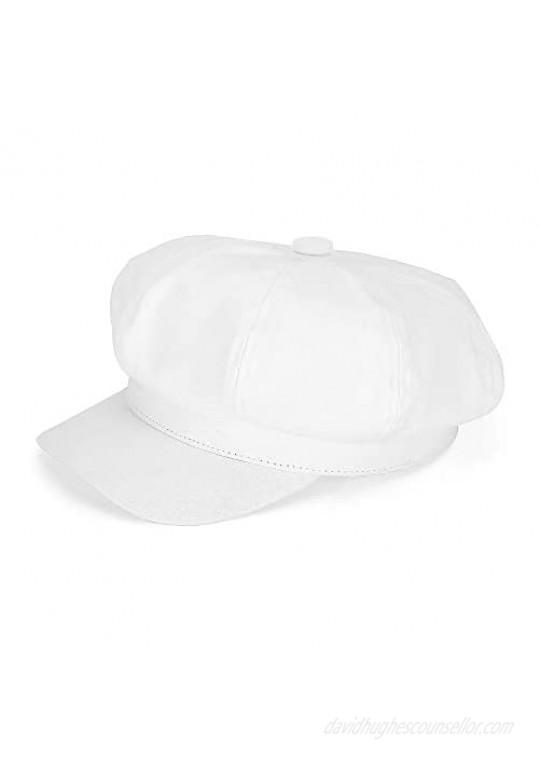 Newsboy Cabbie Baker boy hat Beret Cap for Women Pageboy Visor Paperboy Hat Sailor Fiddler Hat Adjustable