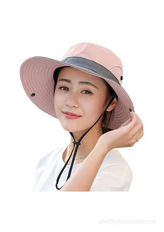 Sun Hats for Women Beach Hat Ponytail Hat Womens Sun Hat with UV Protection Wide Brim