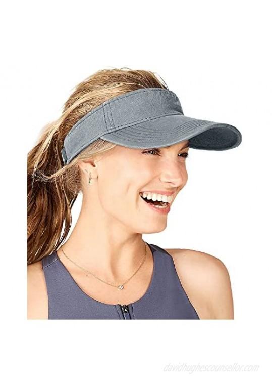 FURTALK Sun Visors for Women Men Sports Sun Visor Hats for Women Cotton Summer UV Hat with Ponytail Hole