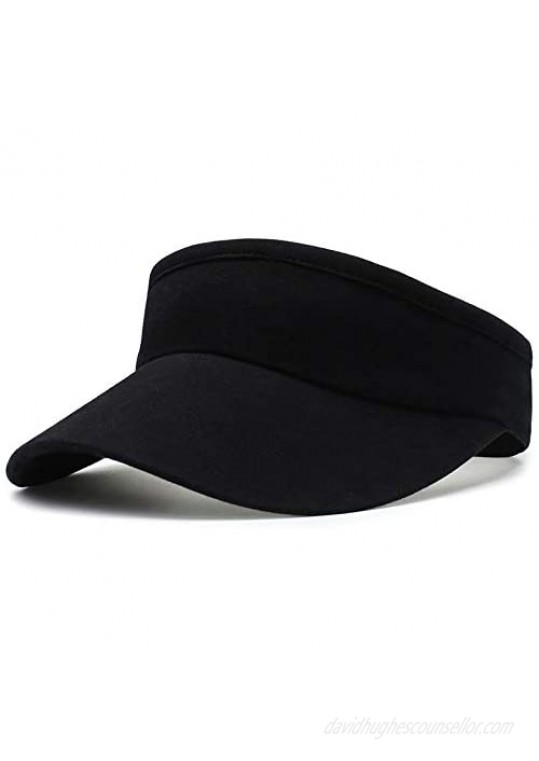 Hanker Women and Men Stretchy Visors for Golf Tennis Running Jogging and Other Sports