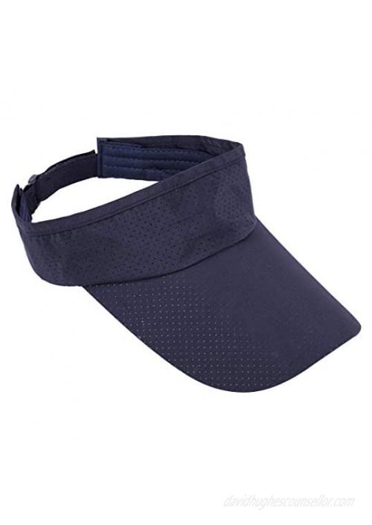 Sportmusies Sun Sport Visors Hat Fits Men Women Running Golf Beach Cap Extra Long Brim Quick Dry Summer