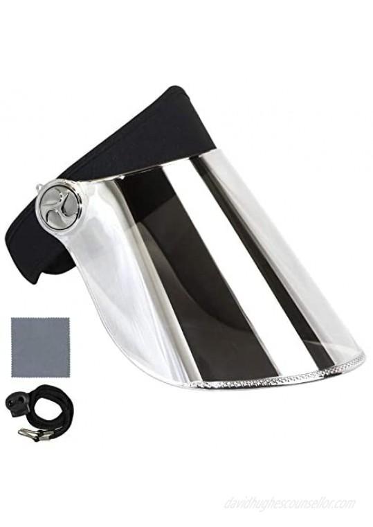 Sun Visor Hat Cap UV Protection - Premium Adjustable UPF 50+ Solar Headband Face Shield for Hiking  Golf  Outdoors