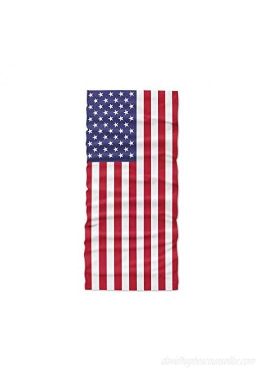Berelli 10 Pack American Flag - Bandana Face Mask - Neck Gaiter - Breathable - UV & Dust Protection - Seamless Design - Cool & Lightweight