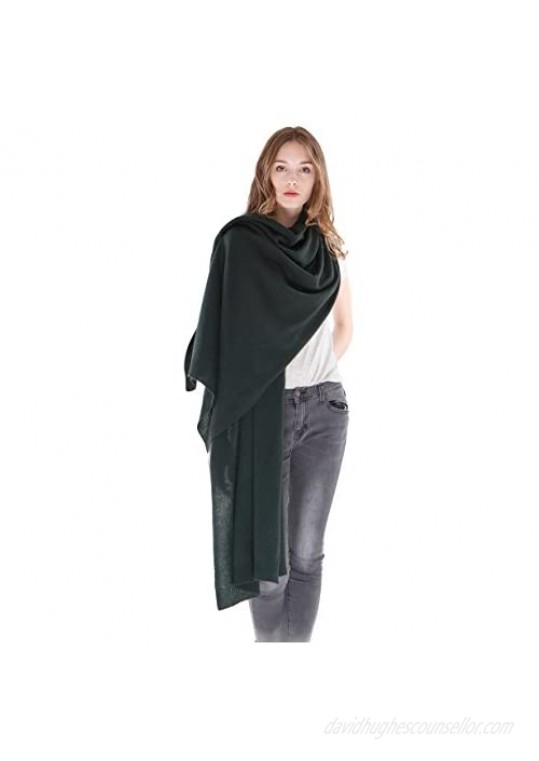 100% Pure Cashmere Wrap Shawl- Extra Large Stole Scarf for Woman by Cashmere 4 U
