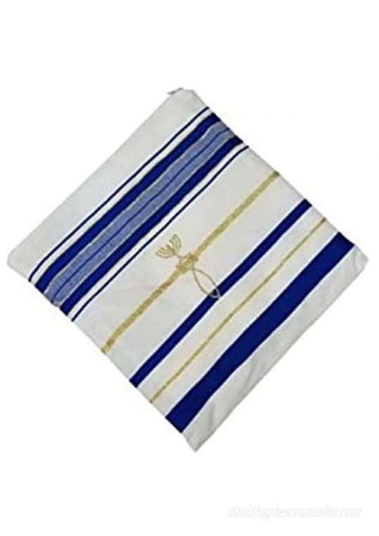 Bethlehem Gifts TM Authentic Messianic Jewish Christian Tallit Prayer Shawl from Israel (Blue Regular)