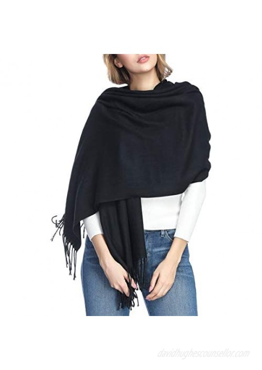 Extra Large Thick Soft Cashmere Wool Shawl Wraps for Women - PoilTreeWing Pashmina Scarf