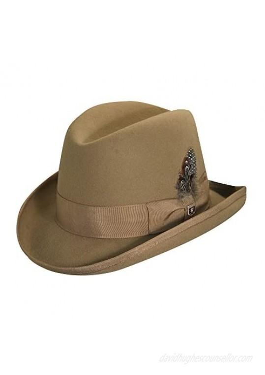 Stacy Adams Men's Wool Homburg Comfort Hat XL Camel