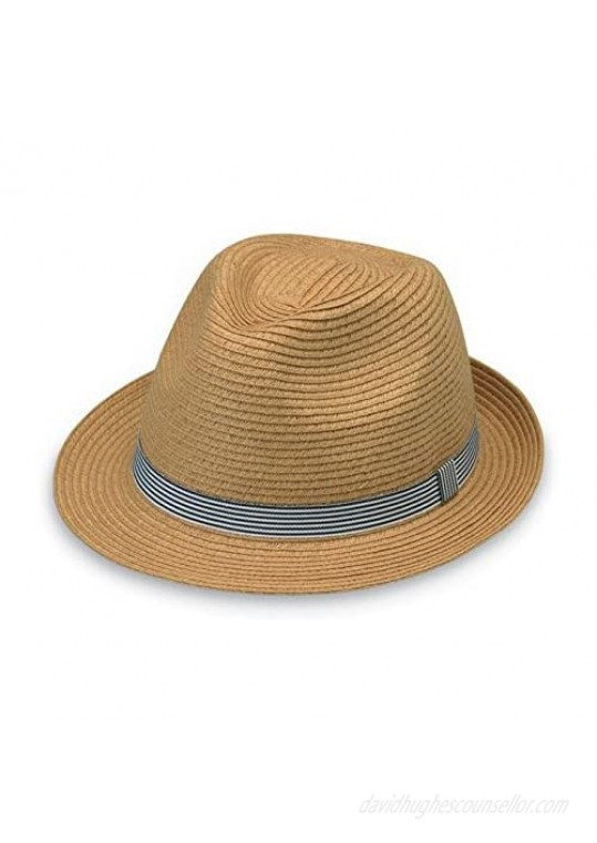 Wallaroo Hat Company Trilogy Trilby – Natural – Unisex Designed in Australia.