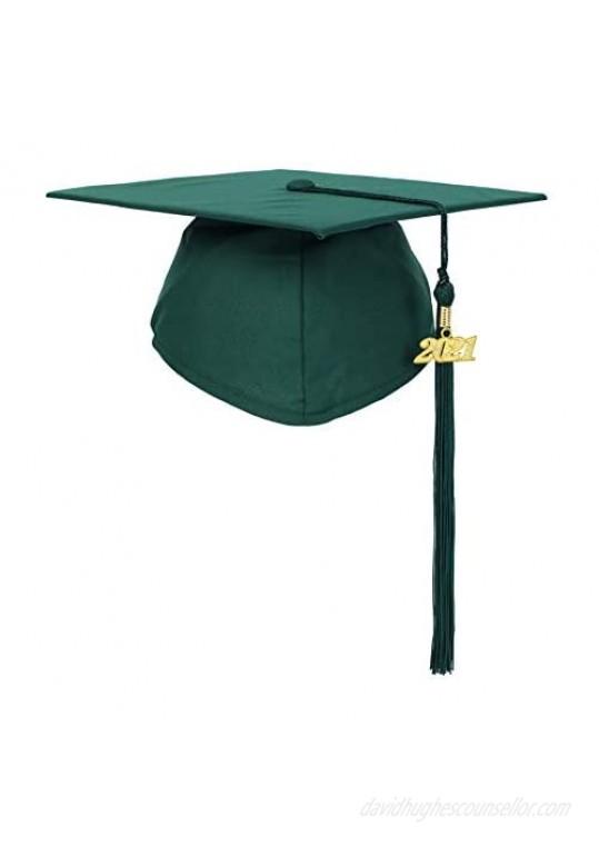 Newrara Graduation Unisex Matte Adult Graduation Cap with Tassel
