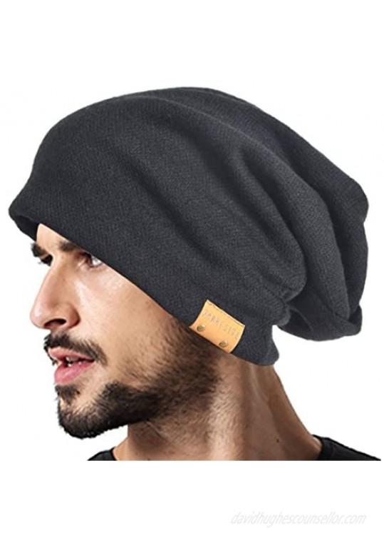 VECRY Men Oversized Slouch Beanie Large Skullcap Knit Hat