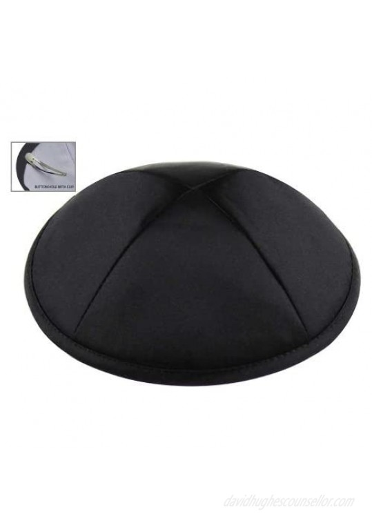 Zion Judaica Deluxe Satin Kippot Bulk Packs or Single Pieces Free Clips