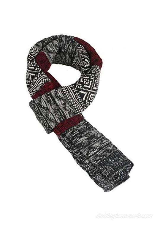 Ypser Knit Winter Soft Scarf for Men Neck Warmer Long Scarves